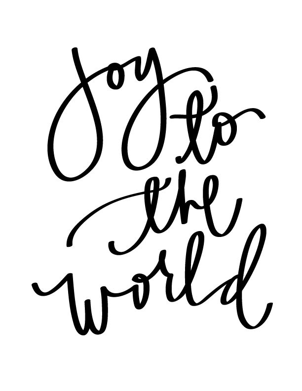 Joy To the World Printable - | December Daily | Pinterest | Joy to ...