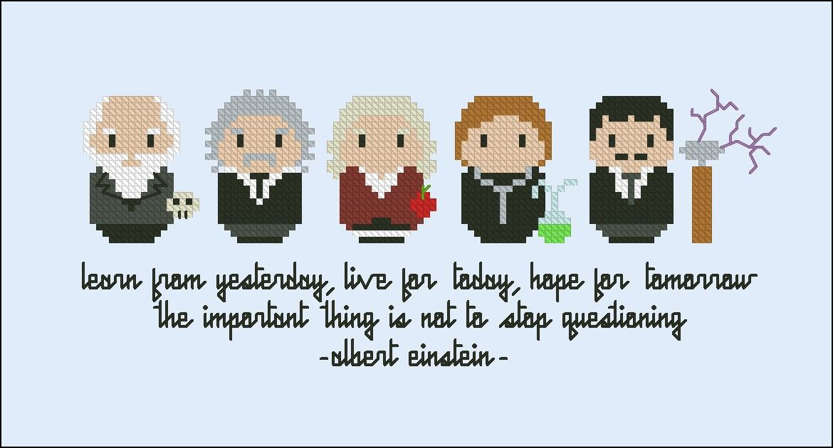 People Who Changed The World Scientists Digital Cross Stitch