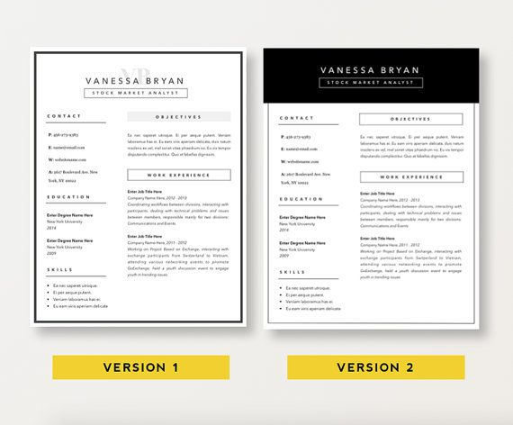 Teacher Resume Template CV Template Cover Letter For MS Word - resume 5 pages