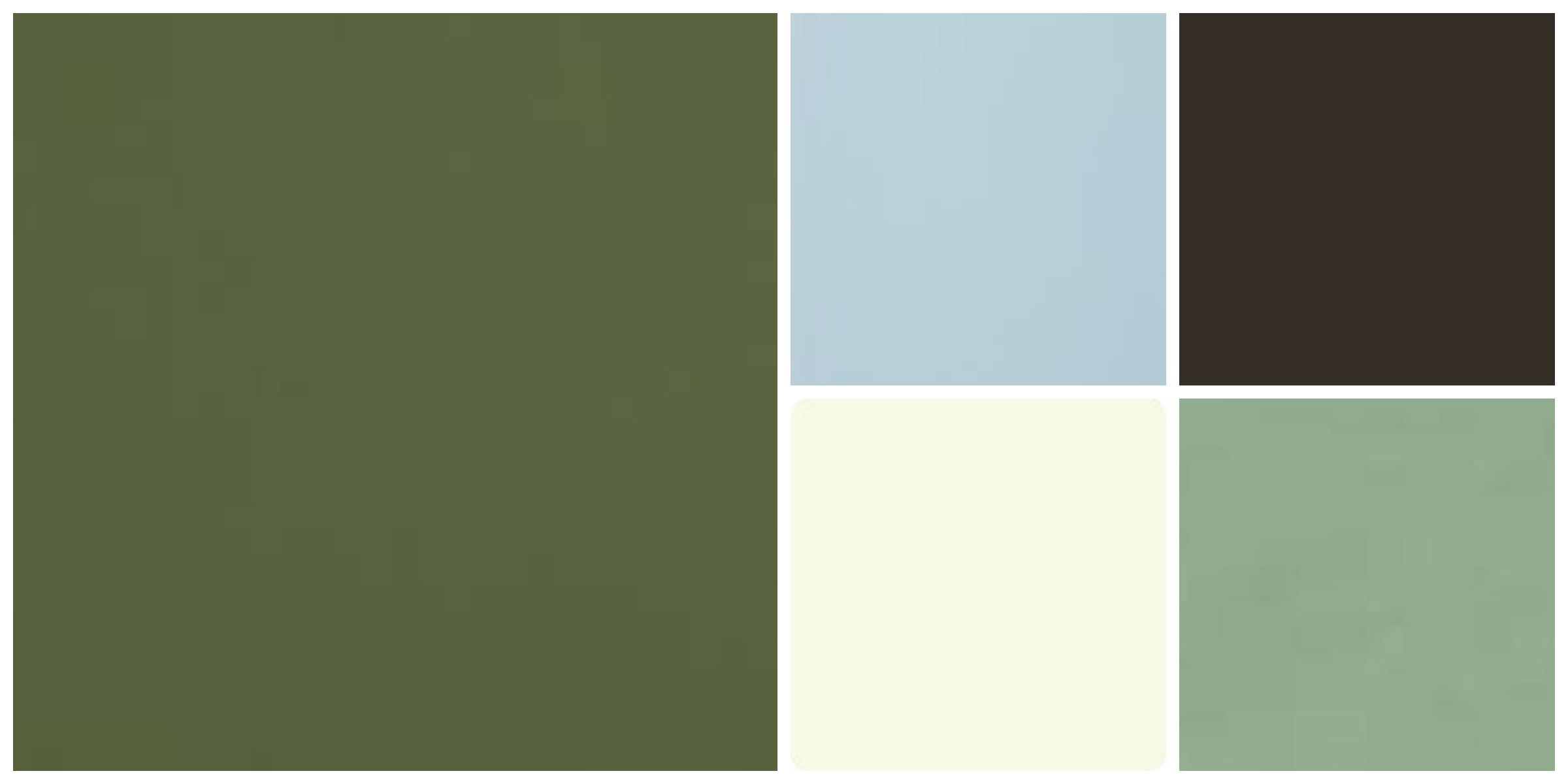 My Color Palette Army Green, Sage Green, Light Cream, Early