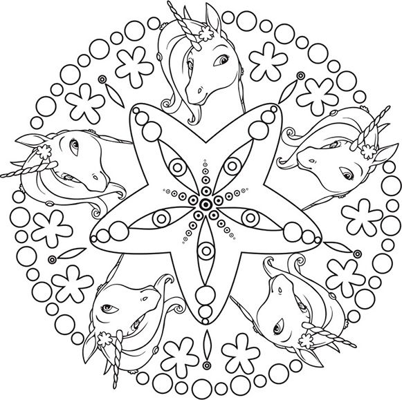 Ausmalbilder Mia And Me 10 Unicorn Coloring Pages Mandala Coloring Pages Coloring Book Art