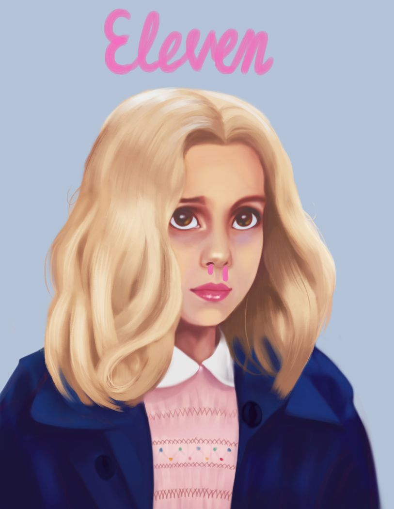 """""""Finished. Eleven from Stranger Things. All pretty inside out."""""""