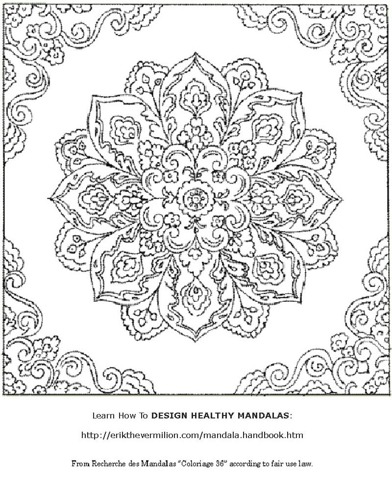 Fantasy Coloring Pages For Adults Free Mandala Coloring Book