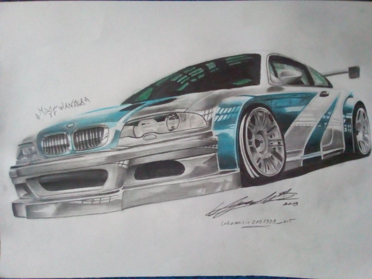Bmw M3 Gtr E46 Car Art Drawing Bmw M3 Bmw E46 Cars