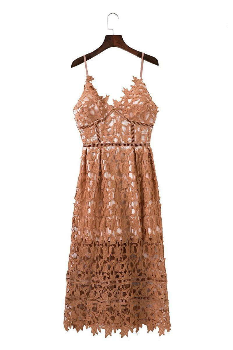 Lace overlay spaghetti strap women summer party dress products
