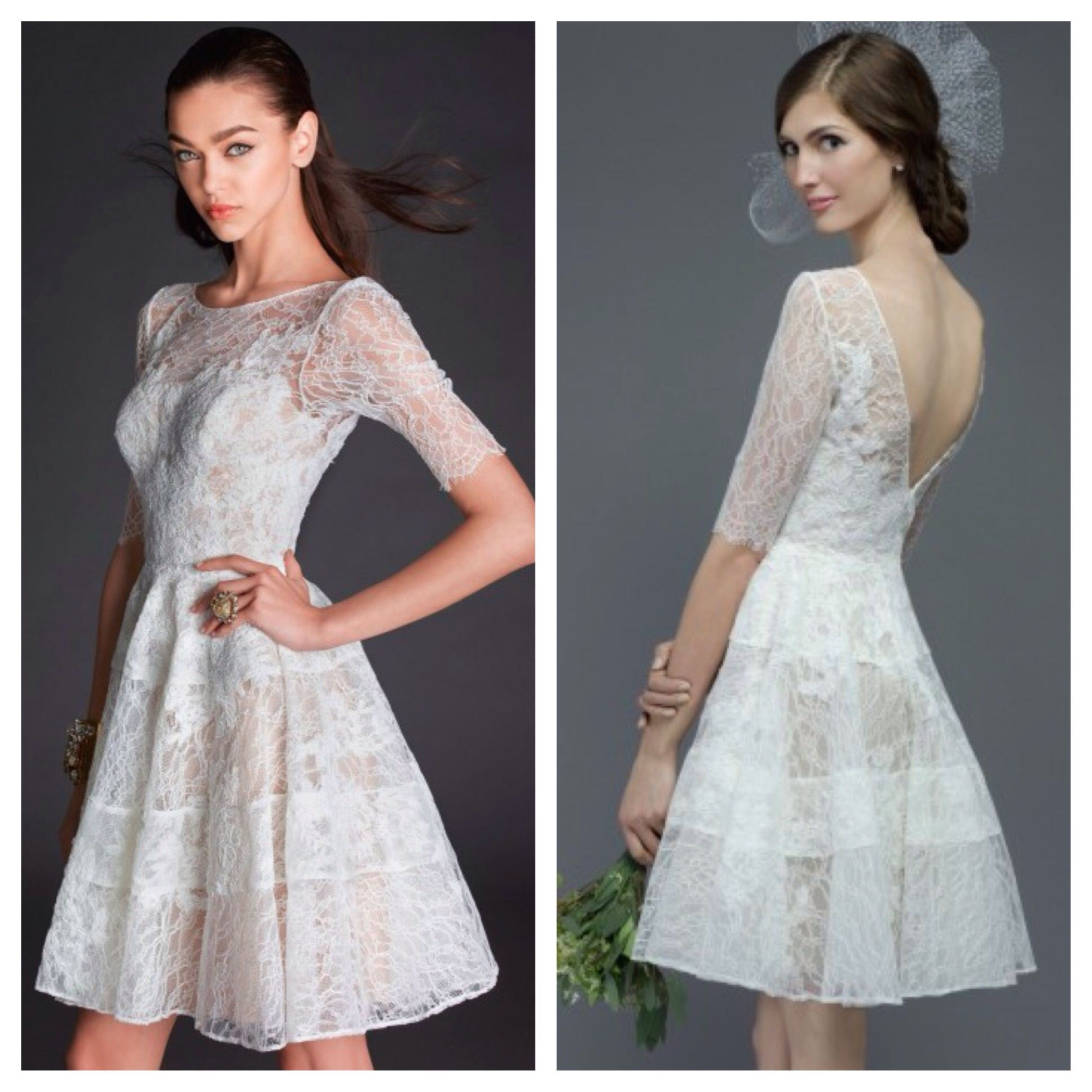 Watters Short Bridal Gown. Style 6717E. Call for more information at 858-481-4900.