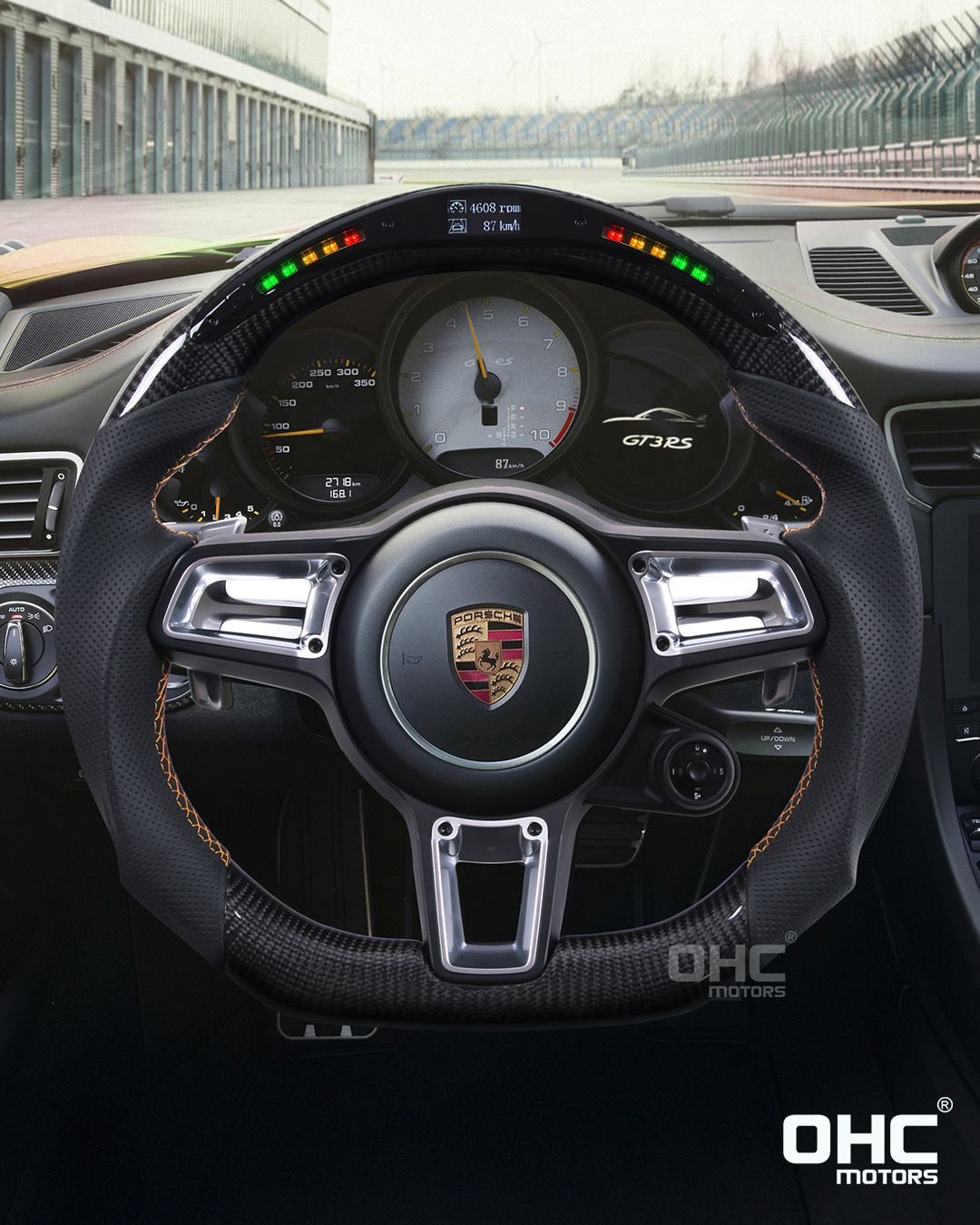Led Performance Steering Wheel For Porsche The Advanced Function 1 Rpm Indicating Lights 2 Driving Speed Data Steering Wheel Wheel Super Luxury Cars