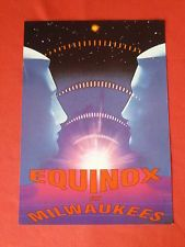 Equinox at Milwaukees rave flyer / flyers -  August 1993 Mint