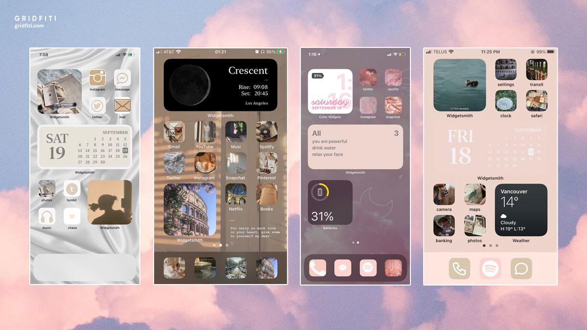 Tumblr Aesthetic Ios 14 Home Screen Ideas Homescreen Iphone Wallpaper App Iphone Design
