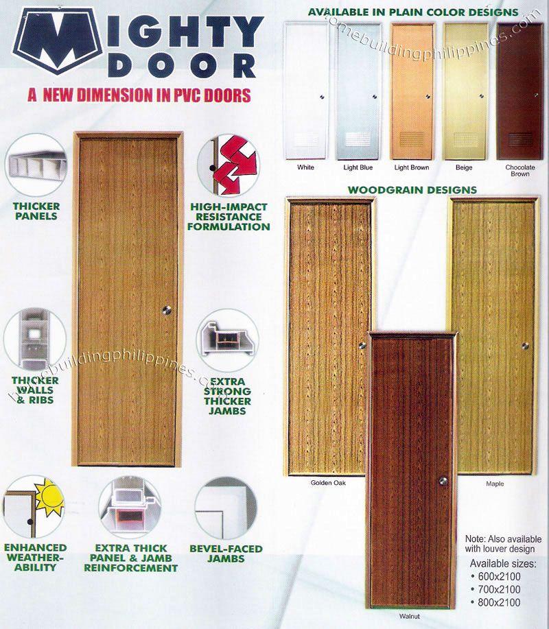 Mighty Door PVC Doors Pvc door, Doors interior, Tall