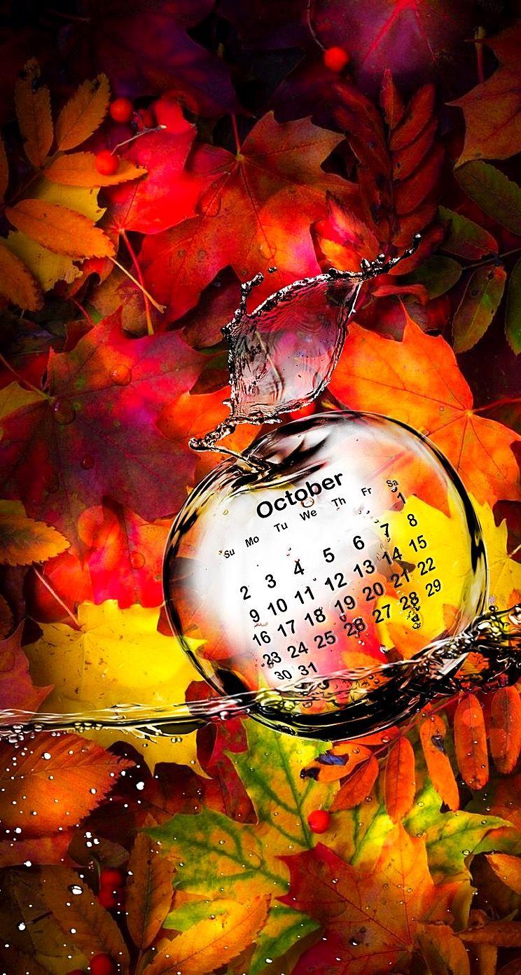 Wallpaper iPhone October 2016 calendar ⚪️ Hello