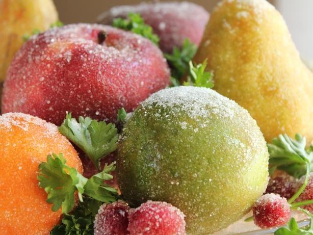 Holiday Sparkling Fruit Centerpiece