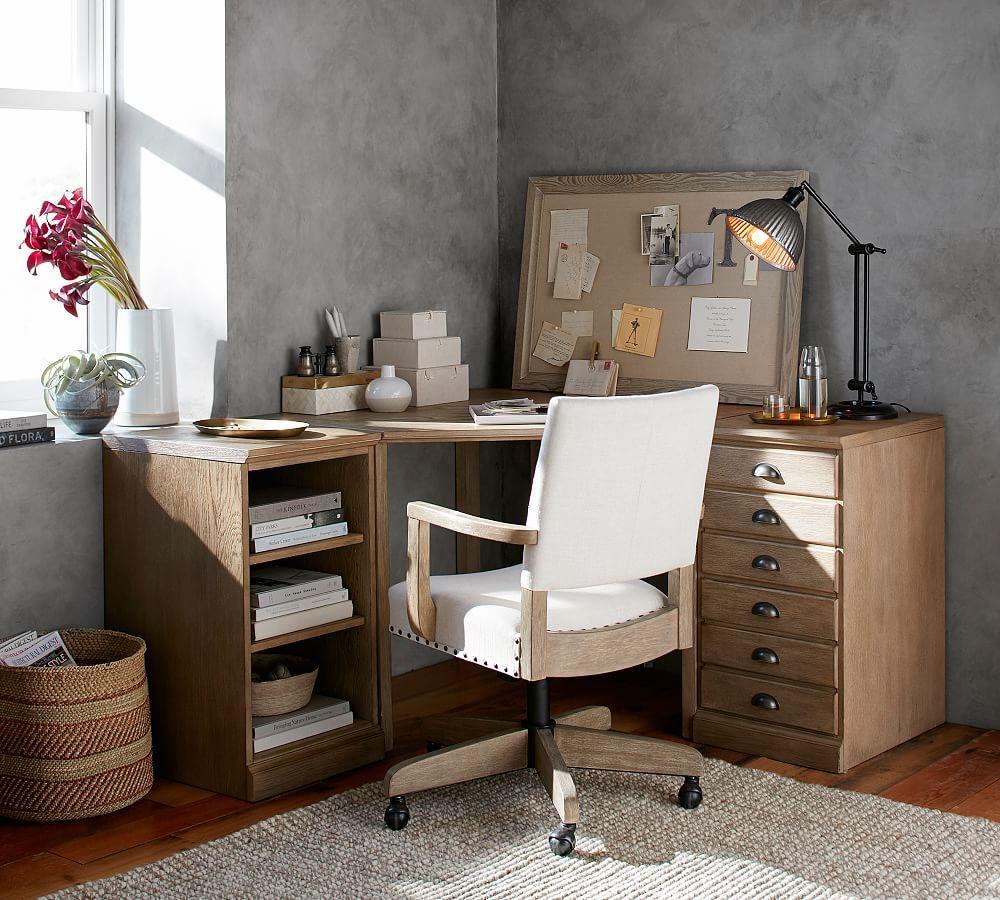Printer's Corner Desk Set, Tuscan Chestnut Stain