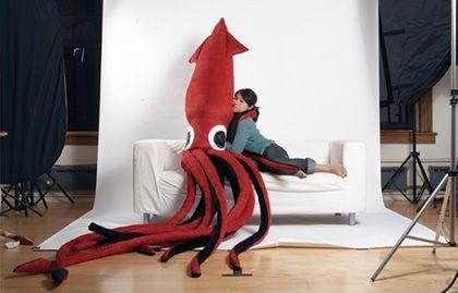 archibald the giant squid plush!
