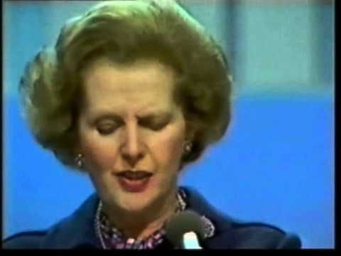 """Margaret Thatcher Brighton Bomb Speech. Whatever one's opinion of this lady, this moment was incredible. No sleep, dead and injured friends and colleagues. No clothes until M&S opened for them early. A re-written speech. """"Shocked but composed"""", she says - yes. Dignity and strength in the face of a terrible act of violence. It is inspiring."""
