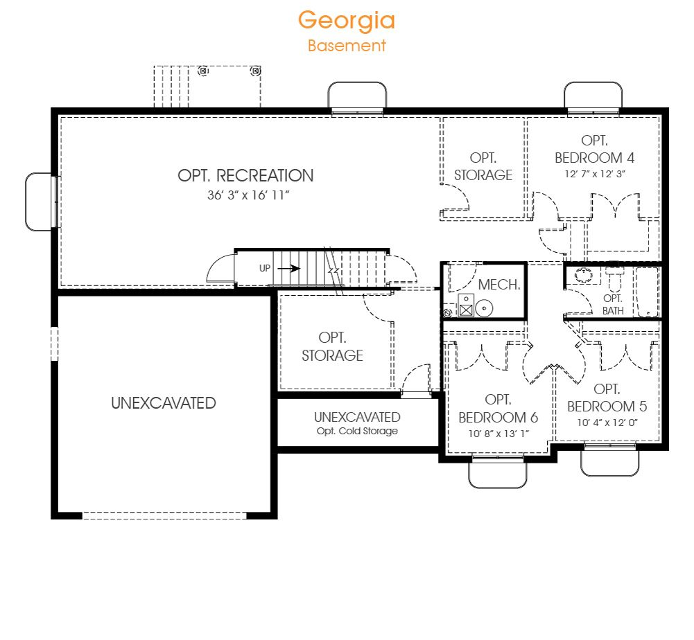 A Great Rambler House Plan The Georgia Has 3 Bedrooms And Is Perfect For Your New Utah Home Call Edge For A Visit Rambler House Plans House Plans Floor Plans