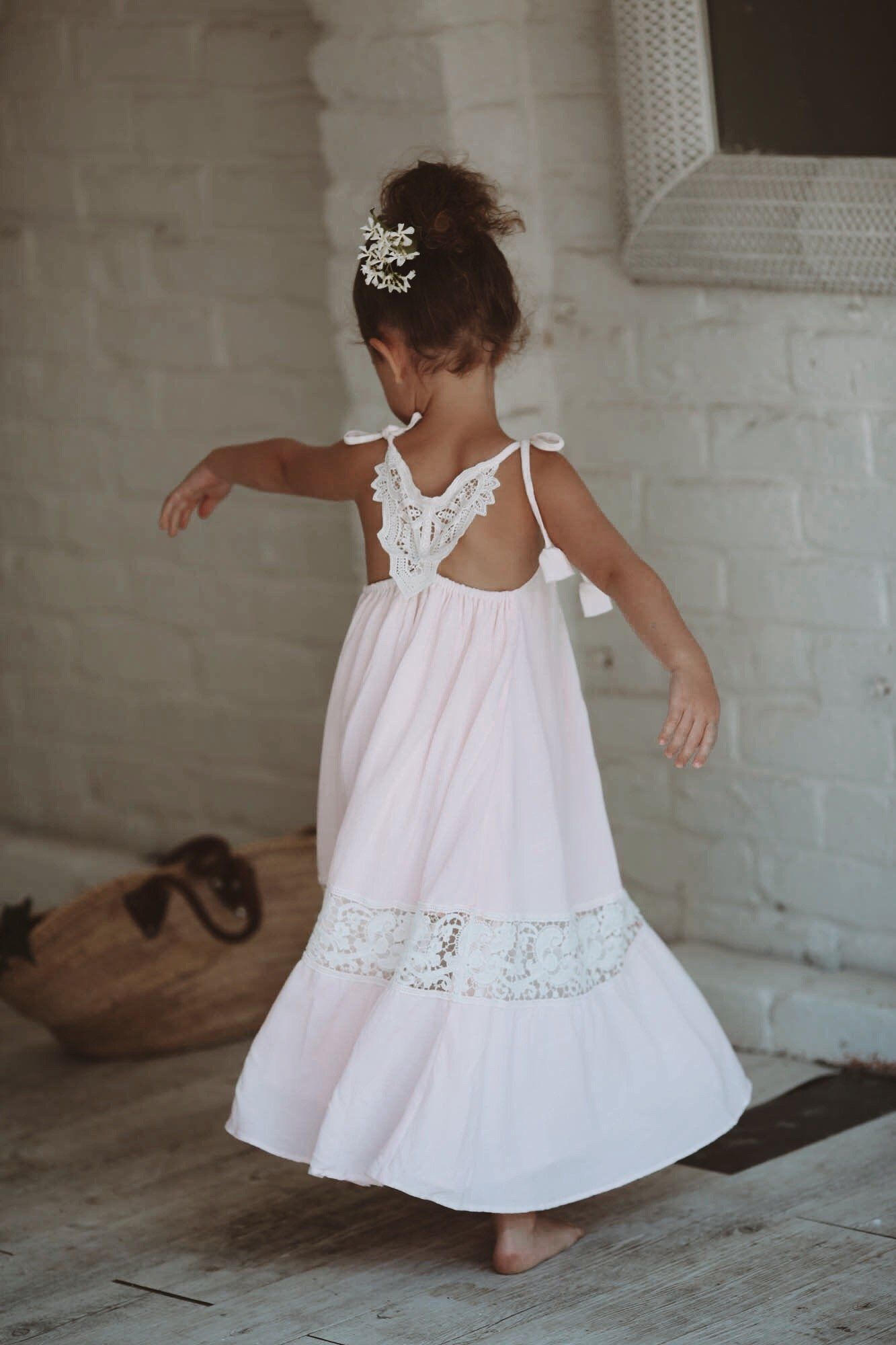 Elm pink girls dress size 2 years tea princess girls