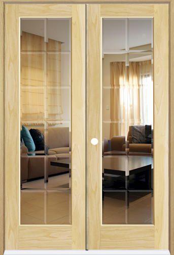 Mastercraft 48 X 80 Pine 12 Bevelite Int Dbl Door Rh At Menards Double Doors Interior