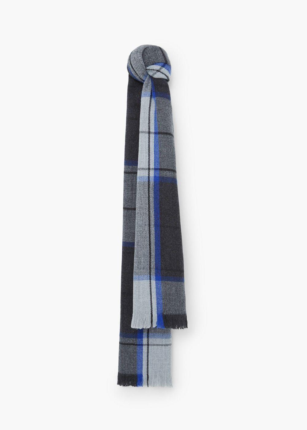 Écharpe tricolore à carreaux - Écharpes pour Femme   MANGO 790a8e3e350