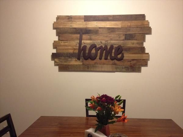 Wood Pallet Wall Decor 10 diy wood pallet wall art ideas | pallet wall art, diy wood and