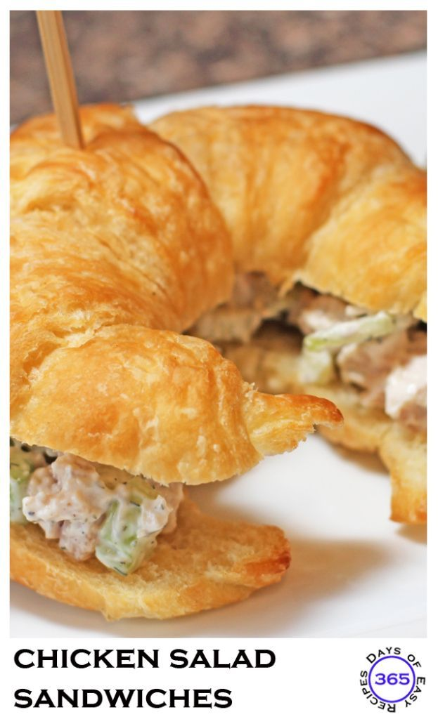 A delicious and yet simple entertaining lunch idea. Chicken Salad Sandwiches are my all time favourite! http://www.365daysofeasyrecipes.com