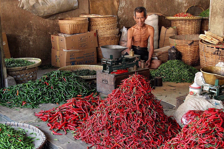 Man at Spice Market Yogyakarta, Java, Indonesia