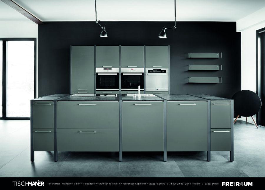 """Modulküche """"Tischmanier"""" online planen Küchenplaner"""