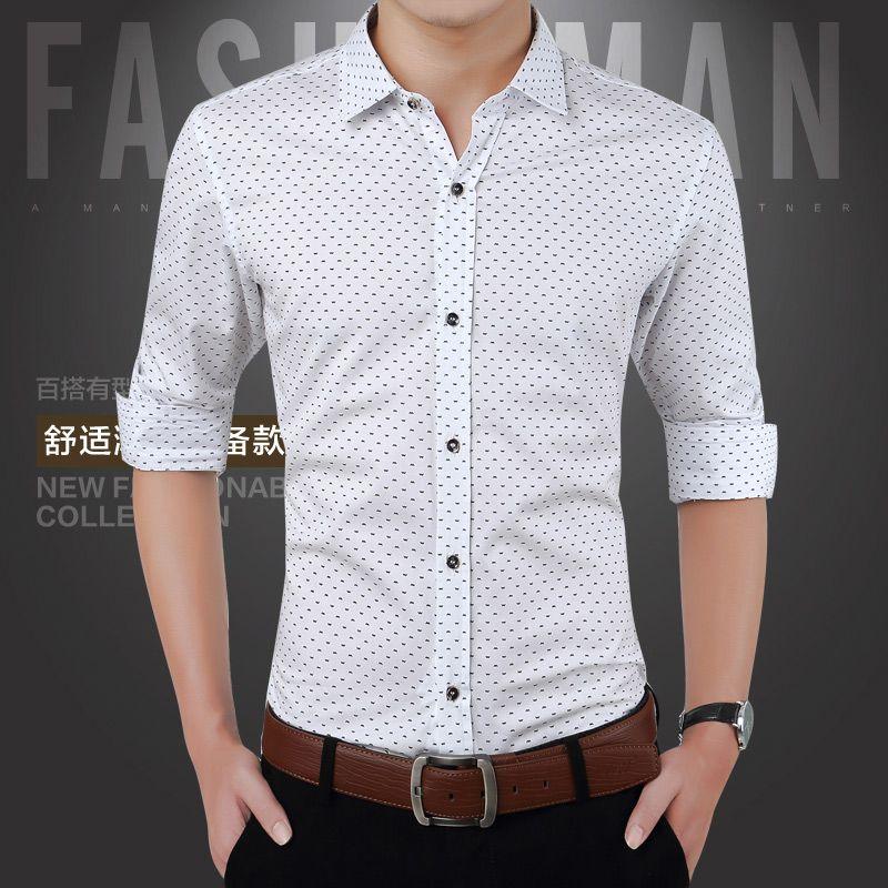 5a9529915f 2015 New Arrival Autumn Brand Dress Men Shirt Long Sleeve Male ...