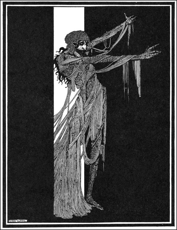 Harry Clarke's illustration for Poe's The fall of the house of Usher