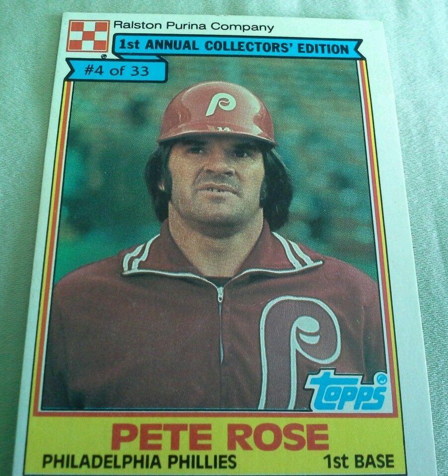 Pete Rose 4 1984 Ralston Purina PhiladelphiaPhillies