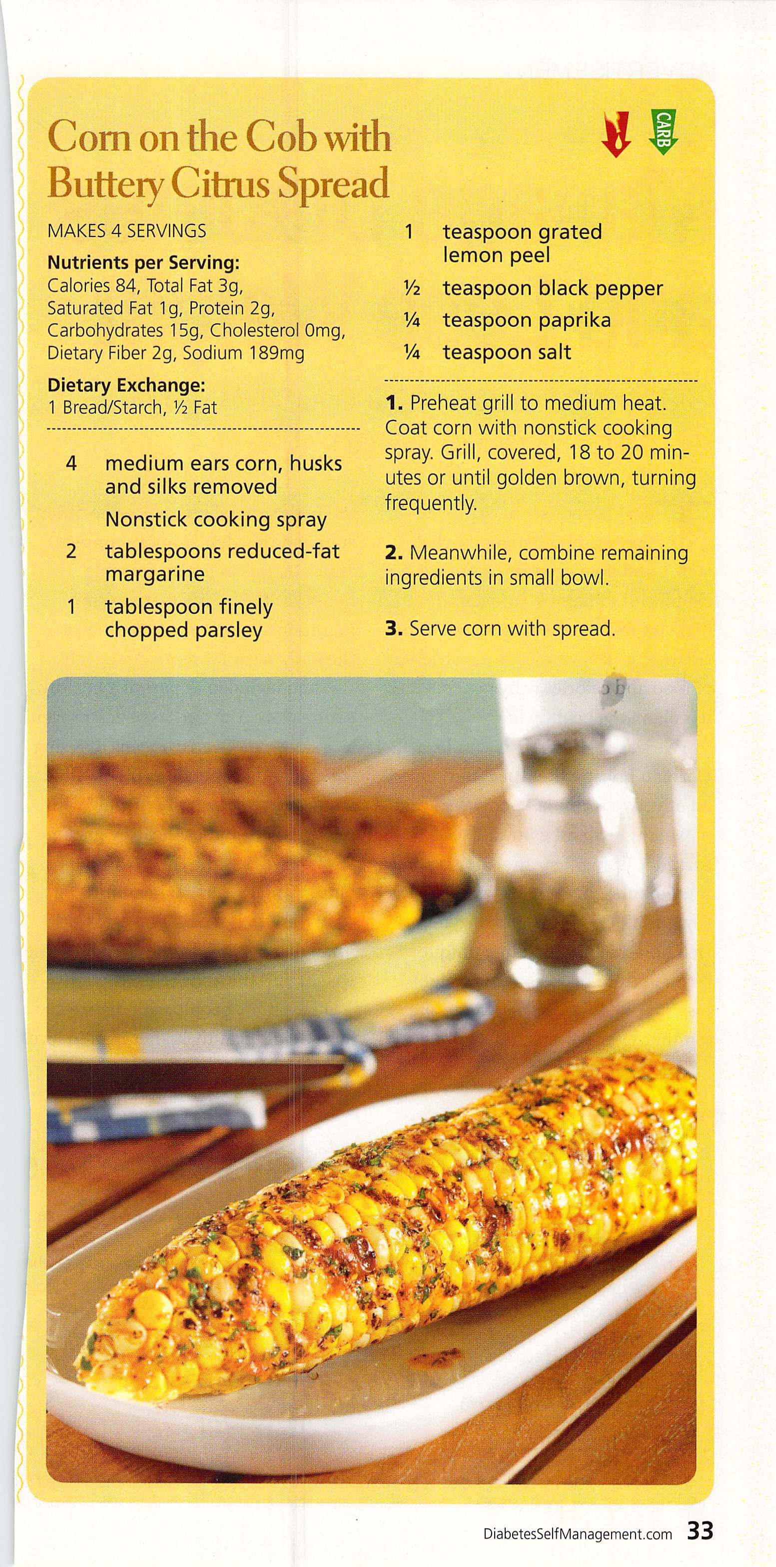 Corn on the Cob with Buttery Citrus Spread