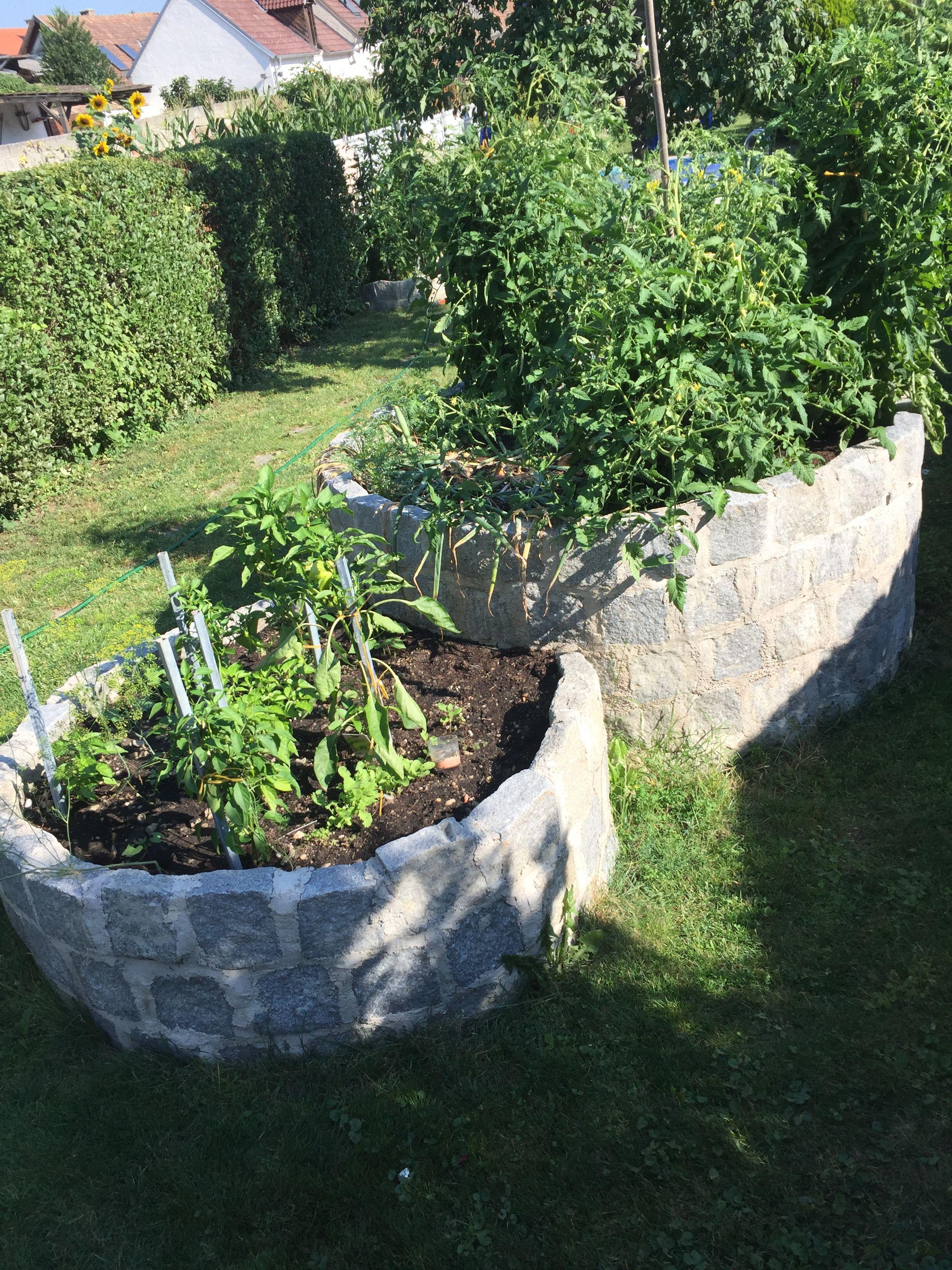 Hochbeet Mit Granit Pflastersteine Garten Hochbeet Garten Pflaster Steingarten