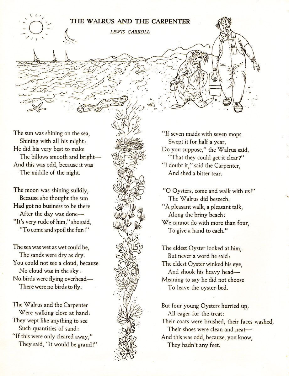 Walrus And The Carpenter Poem Google Search With Images