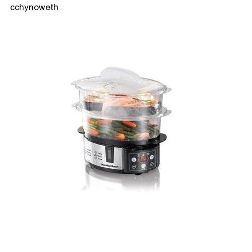 Digital Food Steamer Two Tier automatic electric counter top kitchen cooking  #HamiltonBeach