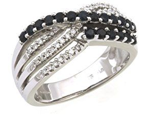 9ct White Gold Ladies' Diamond and Sapphire Ring Size H  http://electmejewellery.com/jewelry/rings/9ct-white-gold-ladies39-diamond-and-sapphire-ring-size-h-couk/
