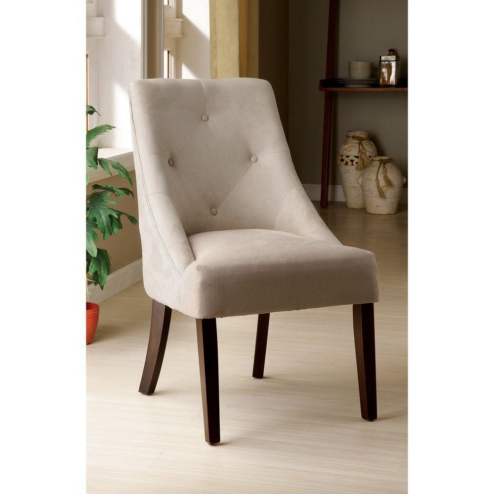 Furniture of America Ivory Aura Leisure Microfiber Dining Chair ...