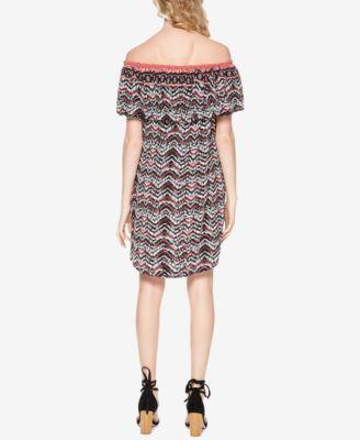 Sanctuary Stella Off-The-Shoulder Dress - Bright Maasai XS