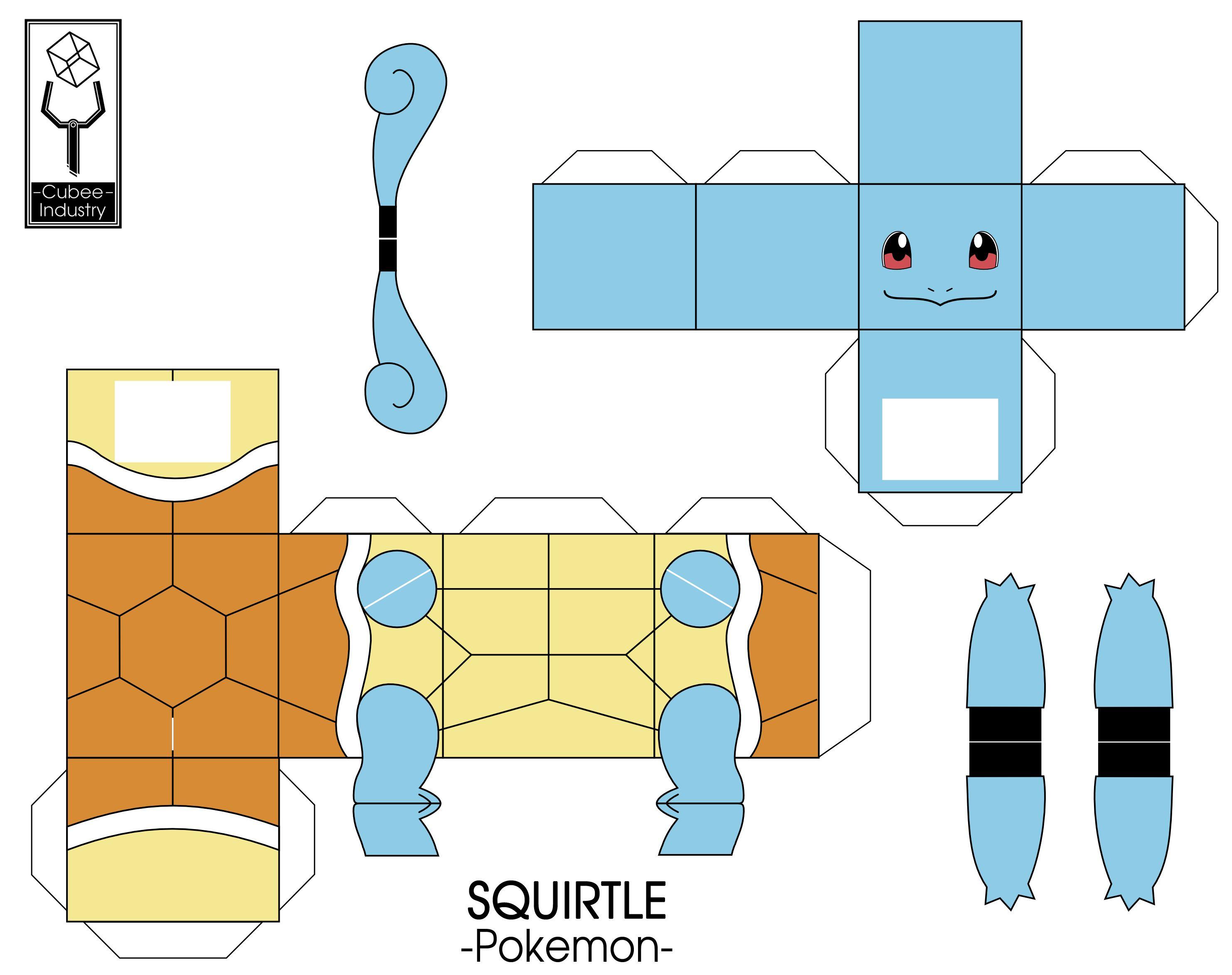 Pokemon origami - Easy origami Pokemon squirtle - YouTube | 2346x2964
