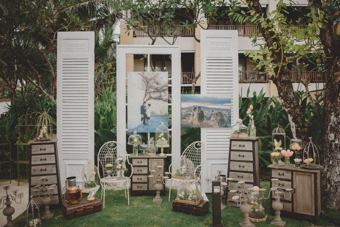Vintage Rustic Wedding At Conrad Hotel Bali The Bride Dept Pedesaan Tempat Pernikahan Dekorasi Pernikahan