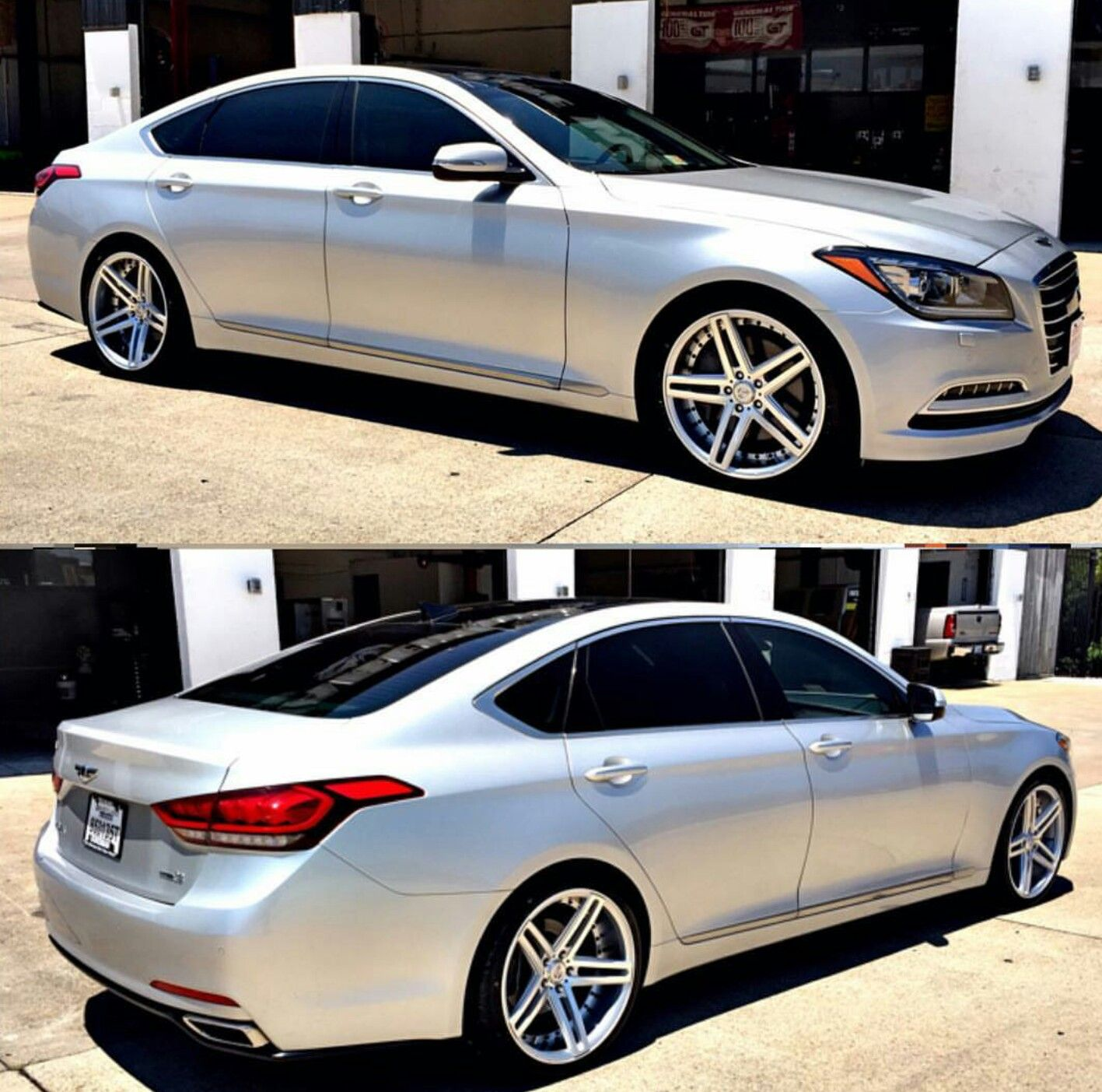2015 Hyundai Genesis Sedan 3 8 Awd With Axe Wheels Ex20 Staggered 20 Quot Genesis Pinterest