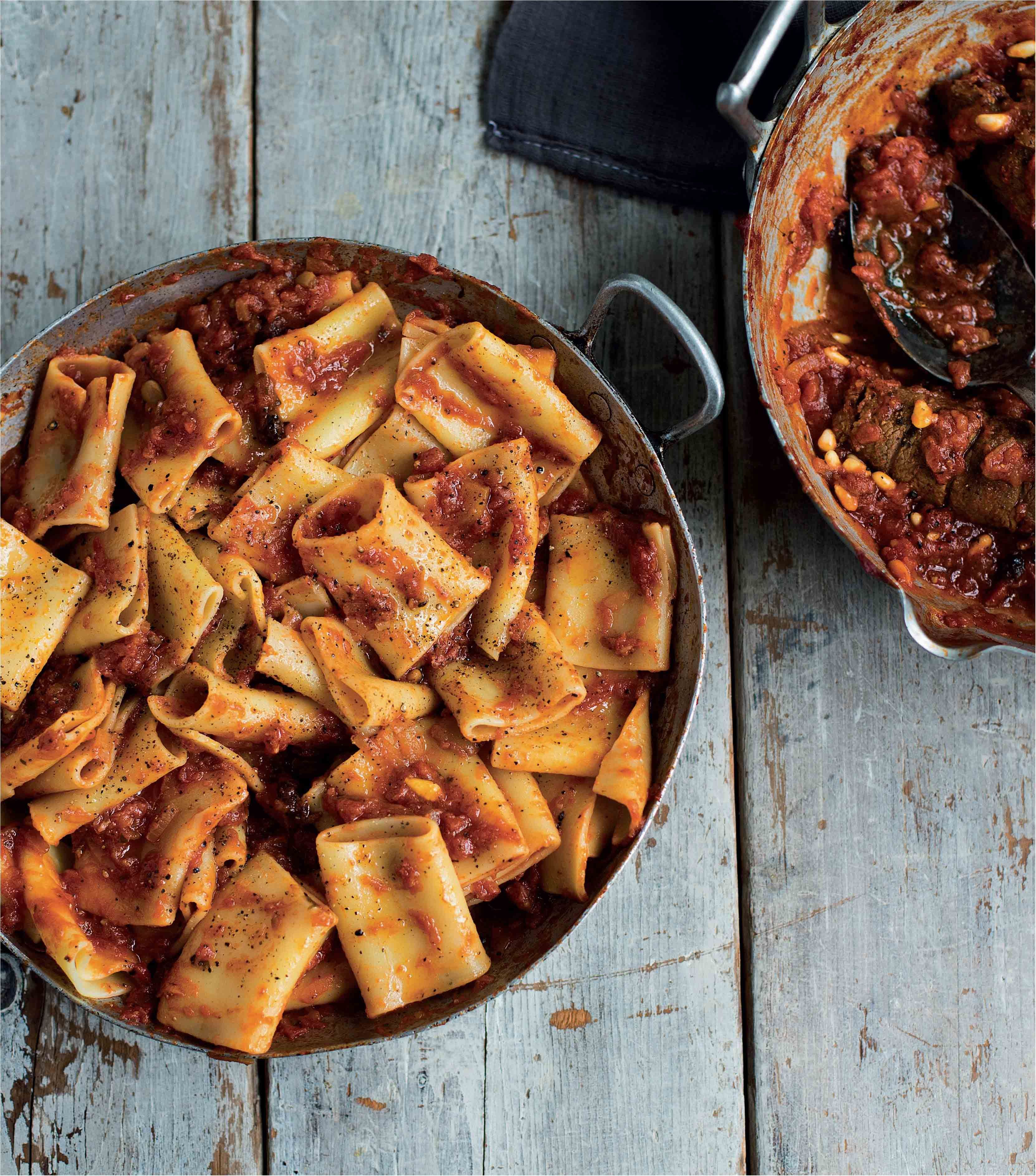 Large pasta tubes with Neapolitan beef sauce recipe from ...