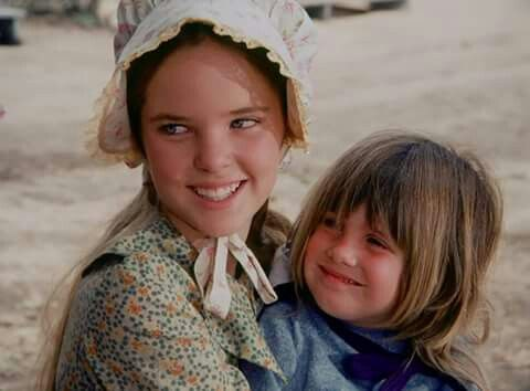 Mary With Her Younger Sister Carrie Little House On The Prairie