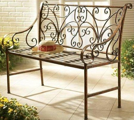 Admirable Cbk Styles 81792 Bench Garden Style Antique Gold Finish Pabps2019 Chair Design Images Pabps2019Com