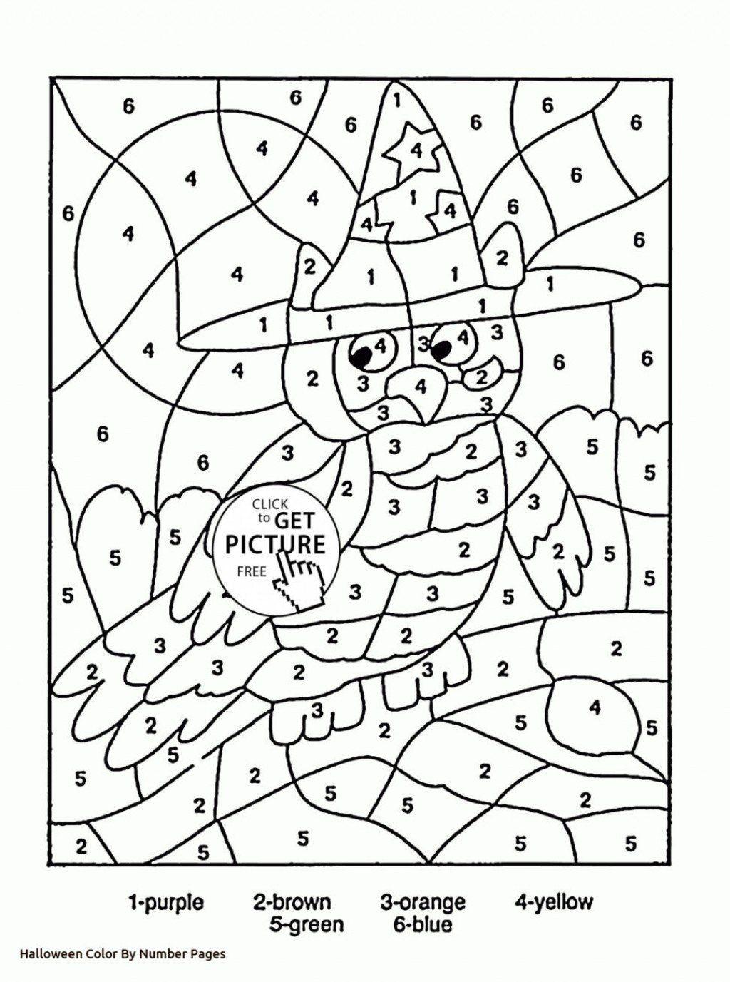 Kindergarten Color By Number Worksheets Coloring Pages