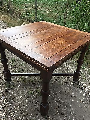 Vintage 1930s 1940s Oak Draw Leaf Pub Table Pub Table Table Oak