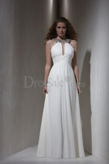 Casual Feeling Key Hole Empire Chiffon Bridal Gown Greek Style Wedding Dress Egyptian Wedding Dress Grecian Wedding Dress