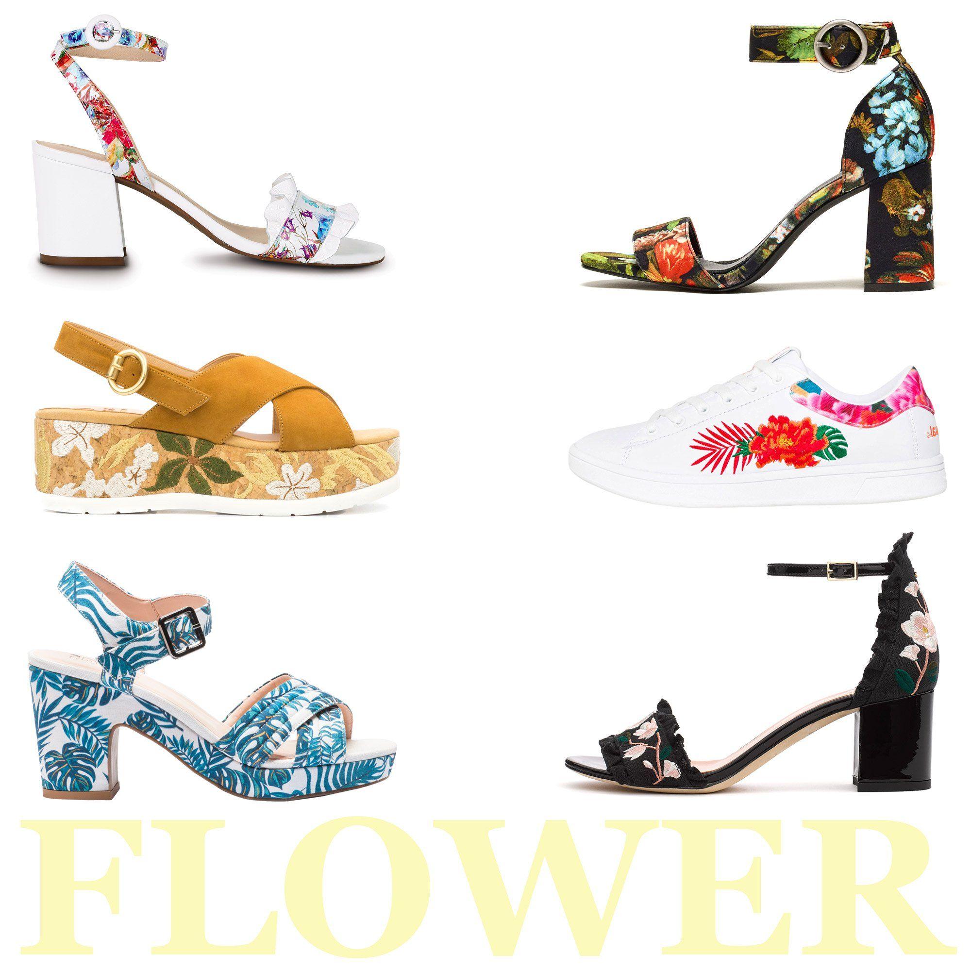 L Imprimé Flower Tendance Chaussures Printemps été 2018 Chaussure Printemps Chaussures Avec Robe Chaussure