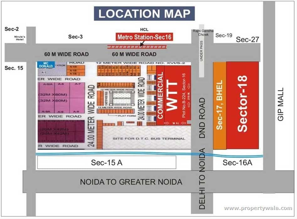 Location Map Corporate Office World Trade Towers Location Map