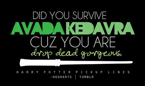 HP pickup line =D