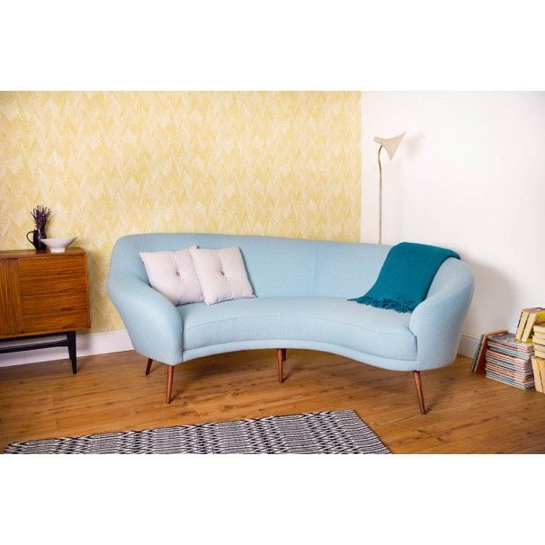 the camber sofa our brand new 1950s vintage inspired curved sofa rh pinterest com